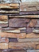 picture of wall-stone  - A texture background of stone wall - JPG