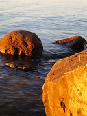Sunset on Lake Rocks