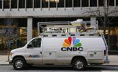 CNBC truck in Midtown Manhattan