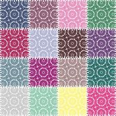 patchwork background with lace patterns