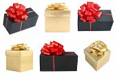 Golden And Black Gift Boxes Set