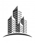 An illustration of buildings icon