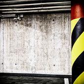 Concrete Wall Underground Interior Background