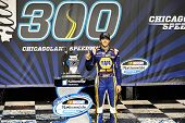 Joliet, IL - Jul 19, 2014:  Chase Elliott (9) wins the EnjoyIllinois.com 300 at Chicagoland Speedway in Joliet, IL.