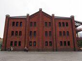 red brick warehouse in Yokohama, Japan
