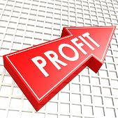 Profit Arrow With Graph Background