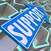 Support Blue Arrow