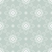 white Floral Seamless Vector Pattern. Orient Abstract Background