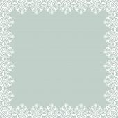 White Floral Vector Pattern. Abstract Frame