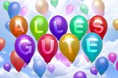 German - All The Best - Balloon Colorful Balloons