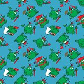 Seamless pattern with frog royal