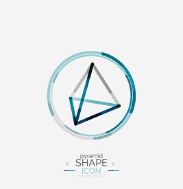 stock photo of pyramid shape  - Pyramid shape line design - JPG