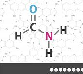 stock photo of acetone  - Organic chemical formula - JPG