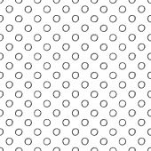 picture of dots  - Seamless polka dot pattern with hand drawn dots - JPG