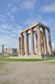 picture of olympian  - A view of the ruins of the temple of Olympian Zeus in Athens - JPG