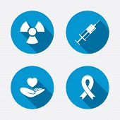 picture of breast cancer awareness ribbon  - Medicine icons - JPG