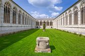 image of cemetery  - Architecture of Monumental Cemetery in Pisa - JPG