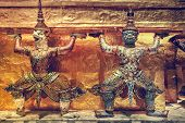 stock photo of demons  - Demon Guardian Wat Phra Kaew Grand Palace Bangkok - JPG