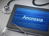picture of anorexia  - anorexia word display on tablet over table - JPG