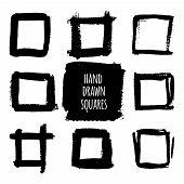 pic of squares  - Black watercolor square frames - JPG