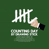 picture of numbers counting  - Counting Day By Drawing Sticks Vector Illustration - JPG