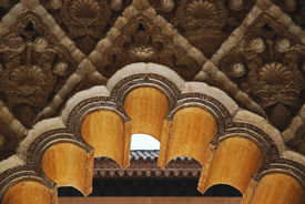 foto of zar  - Moorish arch and mudejar plasterwork - JPG