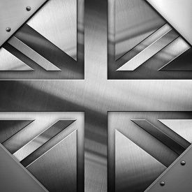 stock photo of british culture  - metal Flag Of British - JPG