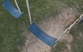 picture of swingset  - a swingset at a school or park playground - JPG