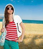 Stylish Teenager On A Shore