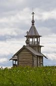 Orthodox wooden chapel of Holy Face in Kizhi