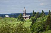 Orthodox wooden chapel of Three Saints in Kizhi