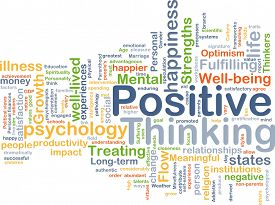 picture of think positive  - Background concept wordcloud illustration of positive thinking - JPG