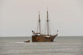 foto of passenger ship  - Galleon on the sea - JPG