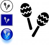 maracas musical instrument symbol sign and button