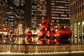 As decorações de Natal em Midtown Manhattan NYC
