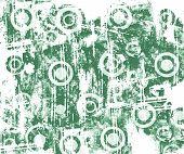 Circles Grunge Green