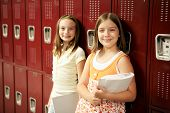 Students By Lockers