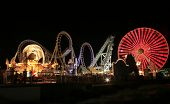 stock photo of amusement park rides  - Blurry  - JPG