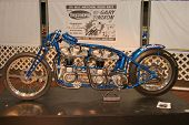 PHILADELPHIA, PA - SEPT 2: Simeone  Museum shows a twin engine Triumph motorcycle  dragster called t
