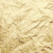 Abstract background. Sheet of the crushed paper. Vector.