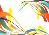 Abstract background. Colored lines