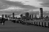 pic of new york night  - The Jersey City skyline from the Liberty State Park - JPG