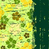 Grunge a banner with a flower pattern