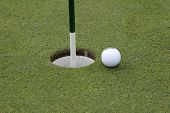 golf ball on putting green