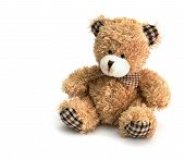pic of teddy-bear  - teddy bear on white background with copyspace - JPG