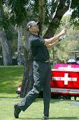 TARZANA, CA - APRIL 19: Stephen Bishop at hole No. 8 at the 7th Annual Hack n' Smack Celebrity Golf Tournament benefiting the Melanoma Research Foundation on, April 19, 2010, Tarazana, California.