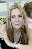 SAN DIEGO, CA - JULY 22: Virginia Hey signs autographs in the autograph area on July 22, 2010 at the