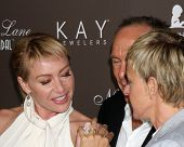 LOS ANGELES - JUL 22:  Portia DeRossi, Neil Lane, & Ellen DeGeneres arrives at the Neil Lane Bridal Collection Debut at Drai's at The W Hollywood Rooftop on July22, 2010 in Los Angeles, CA ....