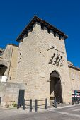 Porta del Loco San Francesco Gate or City Gate. The main gate of the San Marino old town. poster