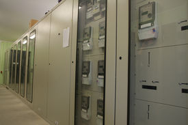 picture of electrical engineering  - New control panel line for high voltage  - JPG